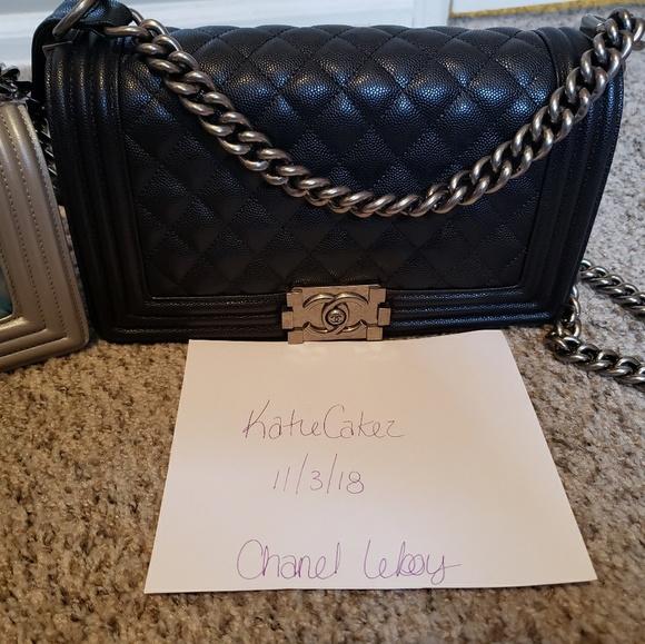 1585f7c55 CHANEL Handbags - Medium Chanel le boy bag 25cm black caviar